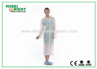 Polythene Disposable Protective Suits PE White Raincoat Poncho